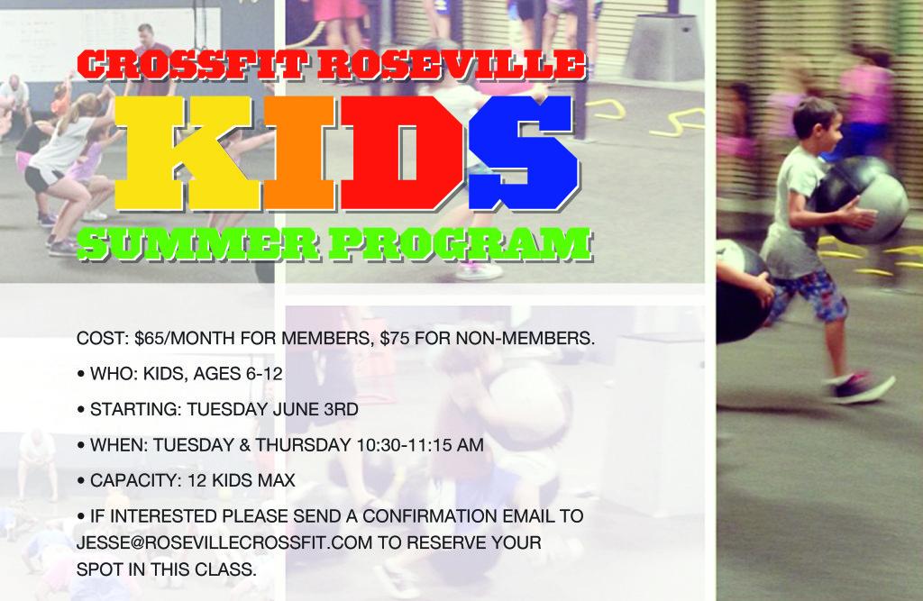 2014 CrossFit Roseville Kids Summer