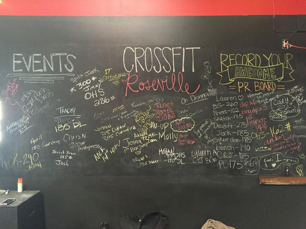 Roseville CrossFit February Goals Board!