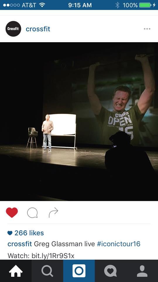2016 Greg Glassman with Jeremy via CrossFit Roseville 16.5 Photo by LVL1Apparel