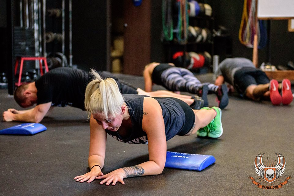 Brittany Graves Plank at CrossFit Roseville