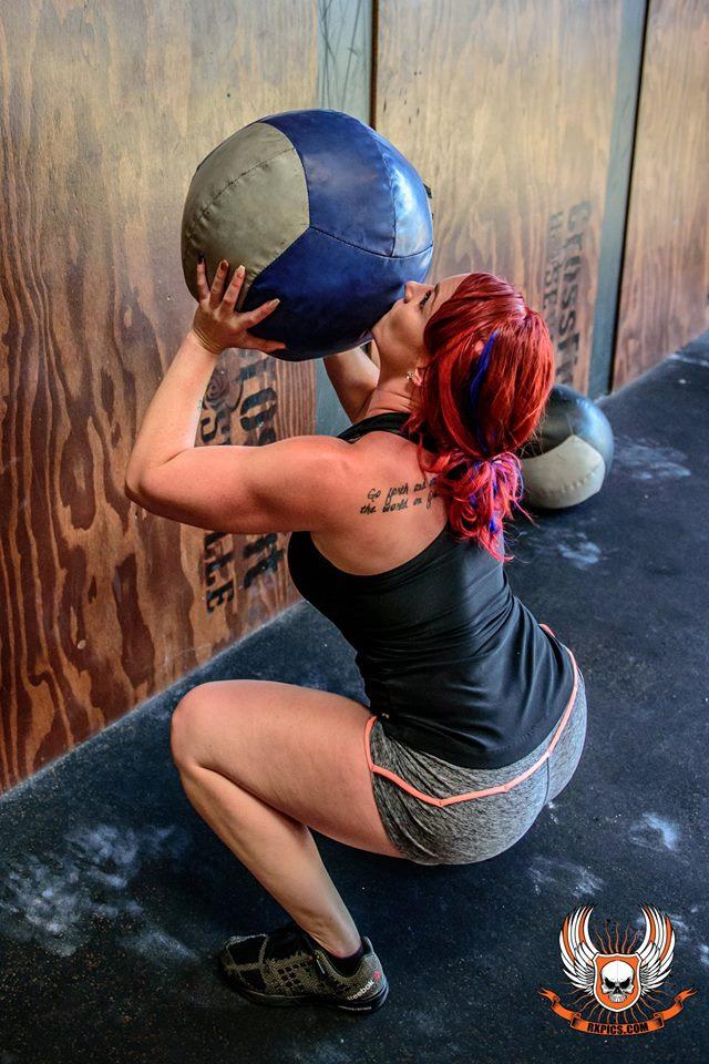 Morgan Wallballs at Roseville CrossFit