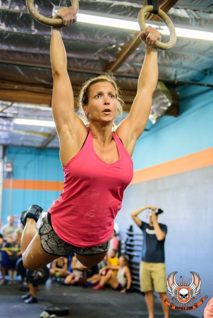 Stacey Gilmore at Iron October with CrossFit Roseville