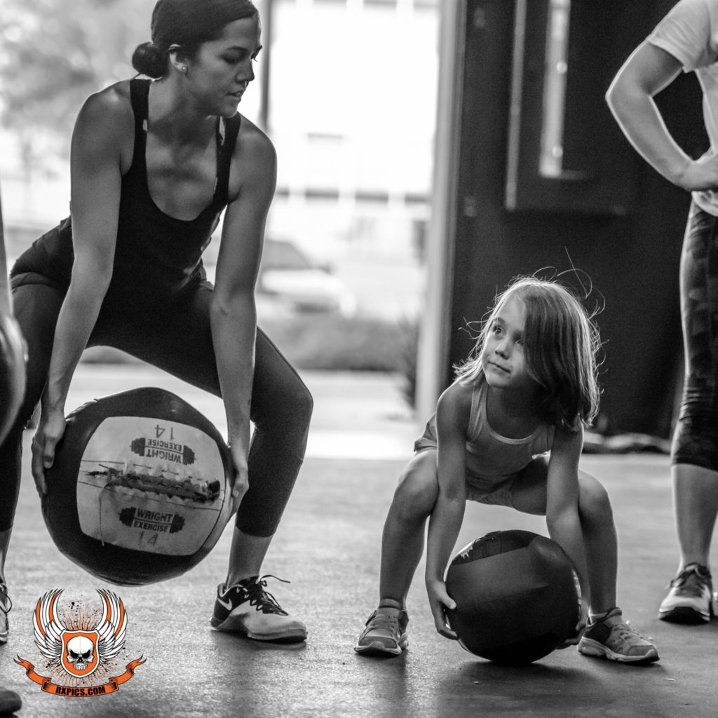 Jess Smith and Amelia at CrossFit Roseville
