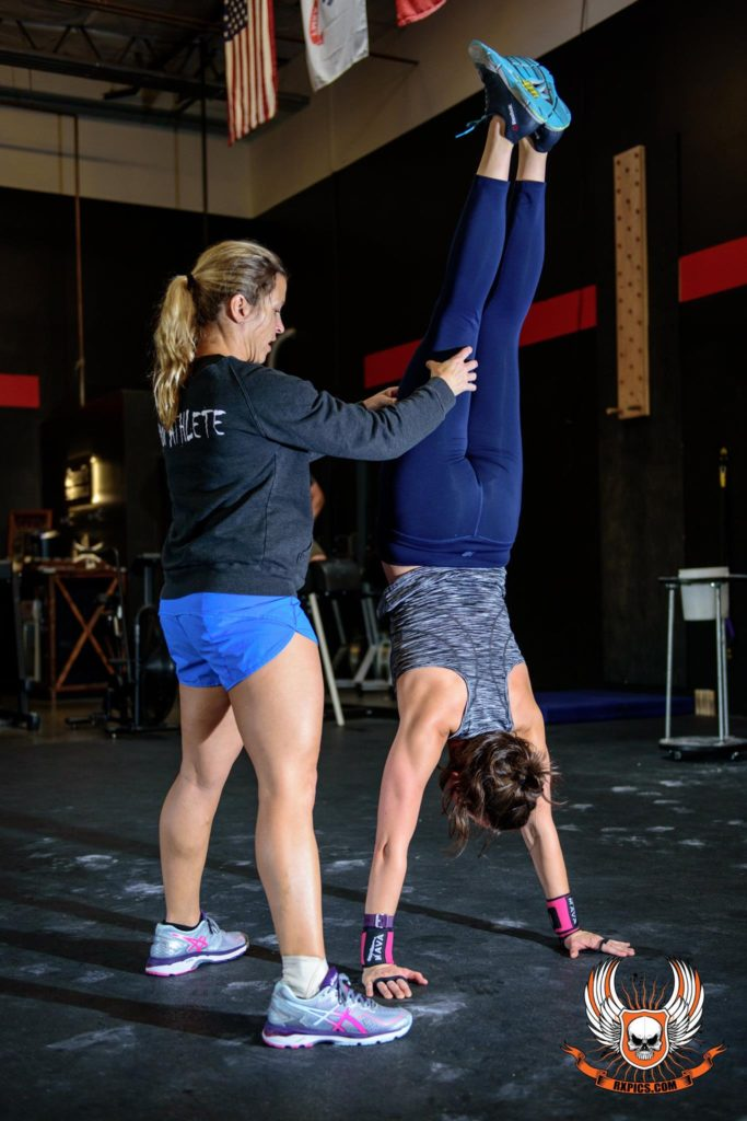 Coach Stacey and Reina at CrossFit Roseville