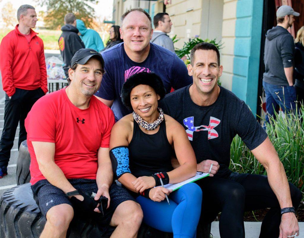 Sam, Leay, Mark, Bill at CrossFit Roseville