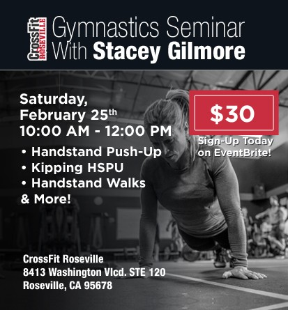 HSPU Seminar with Coach Stacey Gilmore at CrossFit Roseville