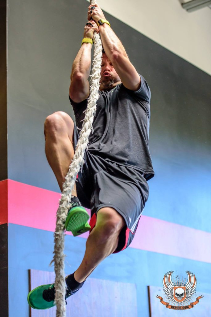 CrossFit Roseville Rope Climb Spartan Training