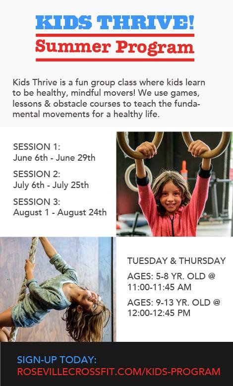 CrossFit Roseville Kids Summer Program 2017