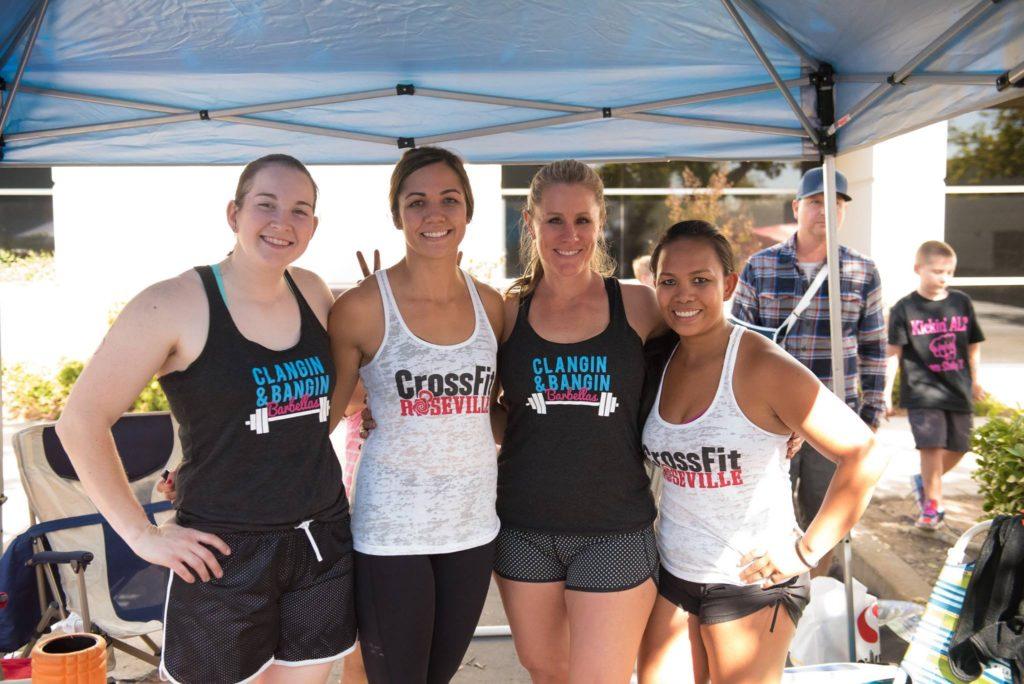 Jhoana, Jess, Sandy, Eileen at CrossFit Echelon Festivus Competition