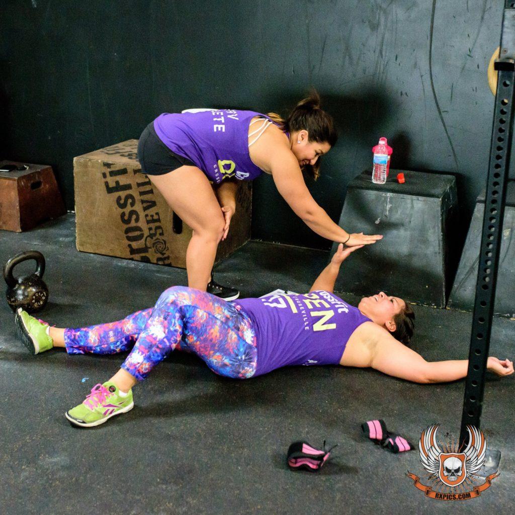 Nadia Recendez Natalie Gardner at CrossFit Roseville