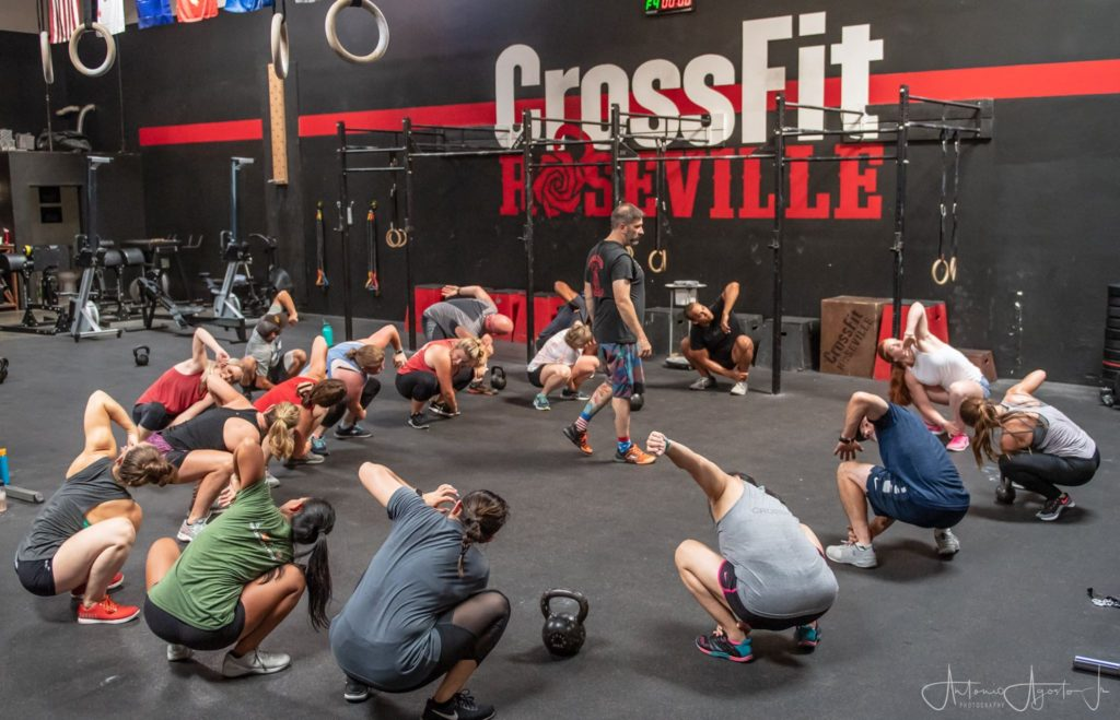 Coach Joey Coaching Sweat Sessions at CrossFit Roseville