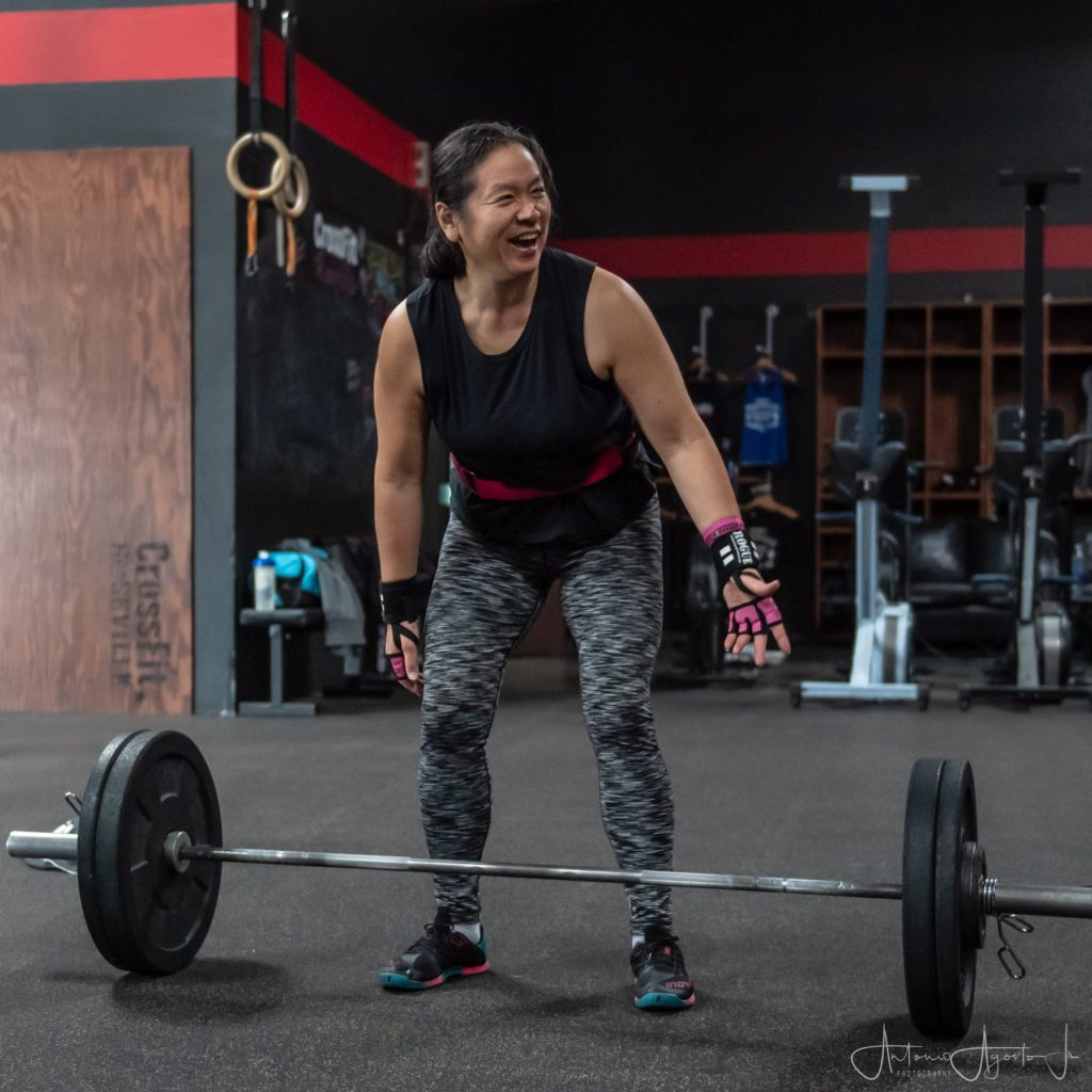 Lois Nakamoto at CrossFit Roseville Group Class