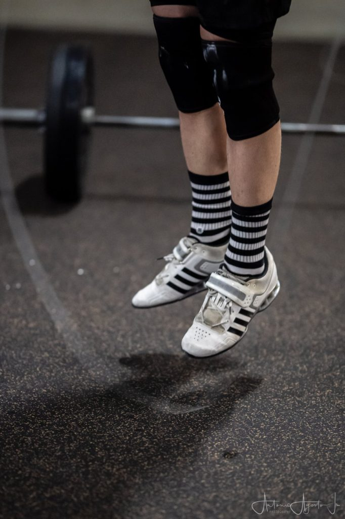 CrossFit Roseville Dubz in Oly shoes aka Lifters